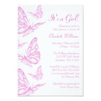 Invitaciones rosadas bonitas de la fiesta de invitacion personal