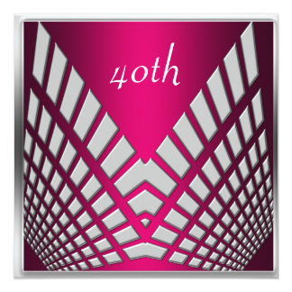 Invitaciones rosadas candentes de la fiesta de invitacion personalizada