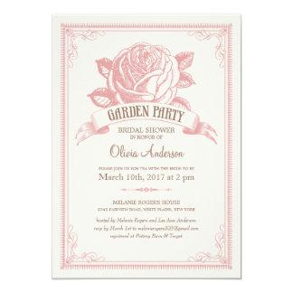 """Invitaciones rosadas de la ducha de la fiesta de invitación 5"""" x 7"""""""