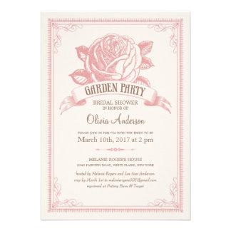 Invitaciones rosadas de la ducha de la fiesta de j