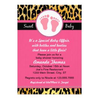 Invitaciones rosadas de la fiesta de bienvenida al comunicados