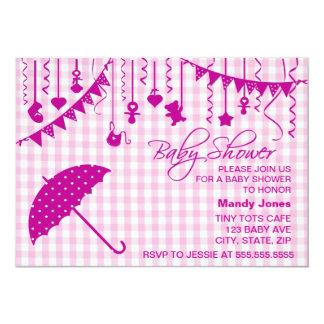 Invitaciones rosadas de la fiesta de bienvenida al anuncios personalizados