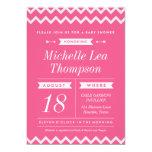 Invitaciones rosadas de la fiesta de bienvenida al anuncio personalizado