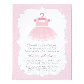 """Invitaciones rosadas de la fiesta de bienvenida al invitación 4.25"""" x 5.5"""""""