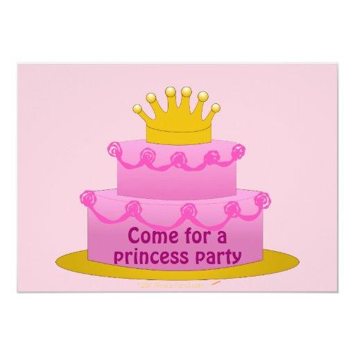 """Invitaciones rosadas de la fiesta de cumpleaños de invitación 5"""" x 7"""""""