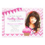 Invitaciones rosadas de la invitación del cumpleañ
