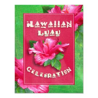 Invitaciones rosadas de Luau del cumpleaños del Anuncio