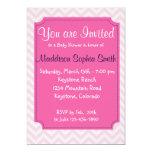 Invitaciones rosadas de moda de la fiesta de anuncios personalizados
