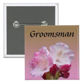 invitaciones rosadas del boda de la flor del pin cuadrada 5 cm