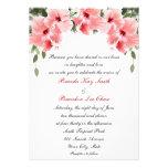 Invitaciones rosadas del boda del hibisco invitacion personalizada