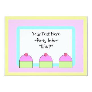 Invitaciones rosadas del fiesta de la magdalena de comunicado personal