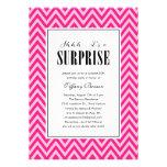Invitaciones rosadas del fiesta de sorpresa para l anuncio