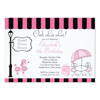 Invitaciones rosadas elegantes de la fiesta de invitación personalizada