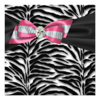 Invitaciones rosadas elegantes del fiesta de la ce anuncio