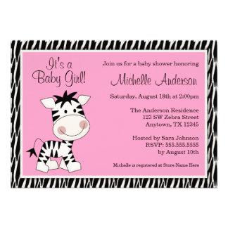 Invitaciones rosadas lindas de la fiesta de bienve invitaciones personalizada