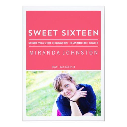 Invitaciones rosadas modernas y elegantes del invitación 12,7 x 17,8 cm