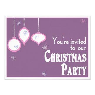 Invitaciones rosadas retras del navidad invitacion personalizada