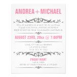Invitaciones rosadas y grises de la recepción nupc invitacion personalizada