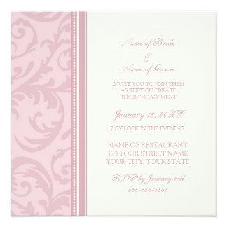 Invitaciones rosadas y poner crema del fiesta de invitación 13,3 cm x 13,3cm