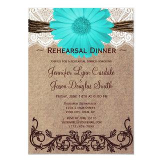 Invitaciones rústicas de la cena del ensayo de la invitación personalizada