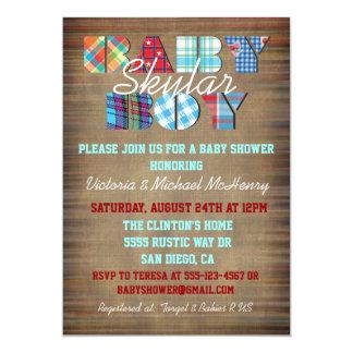 Invitaciones rústicas de la fiesta de bienvenida invitación 12,7 x 17,8 cm