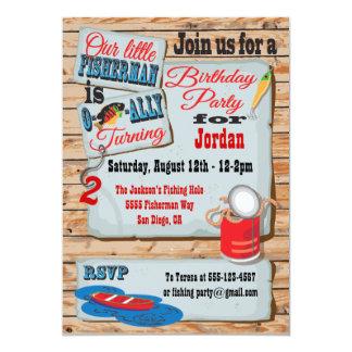 Invitaciones rústicas de la fiesta de cumpleaños invitación 12,7 x 17,8 cm