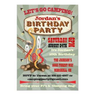 """Invitaciones rústicas de la fiesta de cumpleaños invitación 5"""" x 7"""""""
