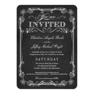 """Invitaciones rústicas de lujo del boda de la invitación 4.5"""" x 6.25"""""""
