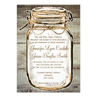 Invitaciones rústicas de madera del boda del grane