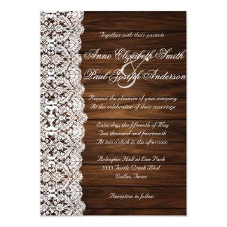 """Invitaciones rústicas de madera del granero y del invitación 5"""" x 7"""""""