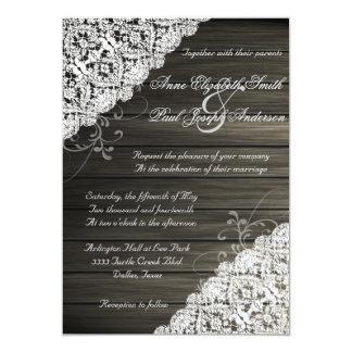 Invitaciones rústicas de madera del granero y del invitación 12,7 x 17,8 cm