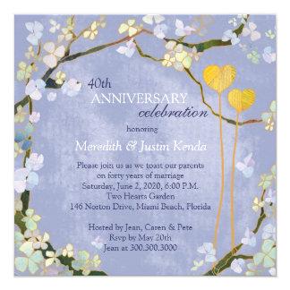 Invitaciones rústicas del aniversario de boda de invitaciones personales