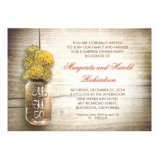 invitaciones rústicas del aniversario de boda del  invitación