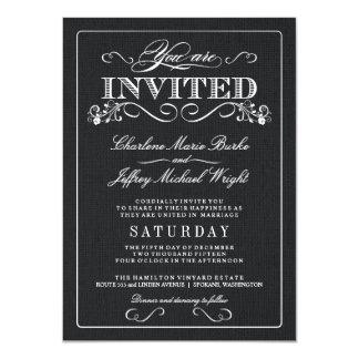 """Invitaciones rústicas del boda de la arpillera invitación 4.5"""" x 6.25"""""""