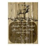Invitaciones rústicas del boda de la caza de la fa invitación
