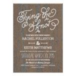 Invitaciones rústicas del boda de la corteza