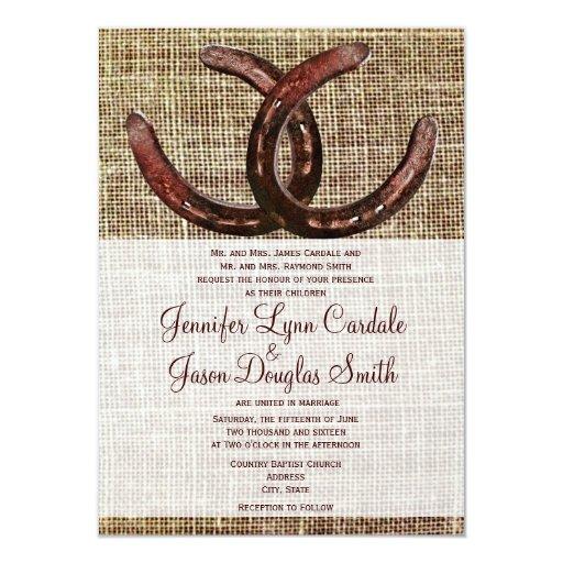 """Invitaciones rústicas del boda de la impresión de invitación 4.5"""" x 6.25"""""""
