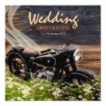 Invitaciones rústicas del boda de la moto del invitaciones personales