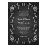 Invitaciones rústicas del boda de la pizarra invitación personalizada