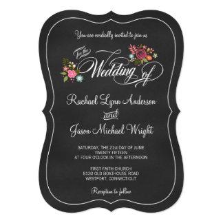 Invitaciones rústicas del boda de la pizarra comunicados personalizados