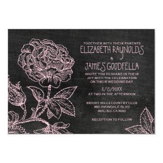 Invitaciones rústicas del boda de la pizarra anuncio