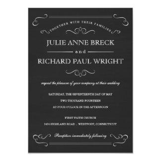 Invitaciones rústicas del boda de la pizarra del invitación 11,4 x 15,8 cm