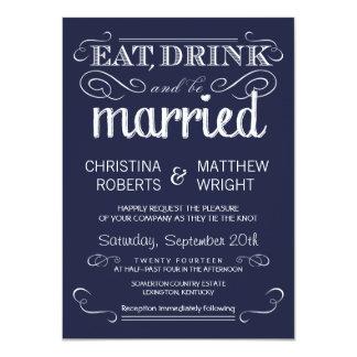 Invitaciones rústicas del boda de los azules invitación 11,4 x 15,8 cm