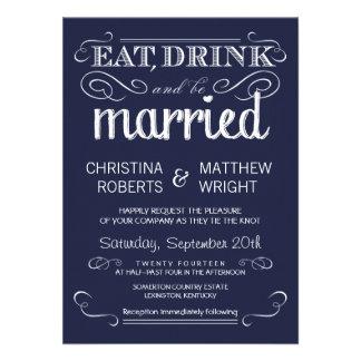 Invitaciones rústicas del boda de los azules marin invitacion personal