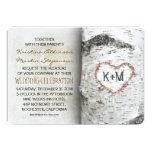 Invitaciones rústicas del boda del árbol de abedul invitación personalizada