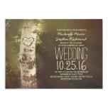 Invitaciones rústicas del boda del árbol de abedul anuncio personalizado