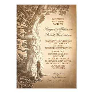 invitaciones rústicas del boda del árbol del invitaciones personalizada
