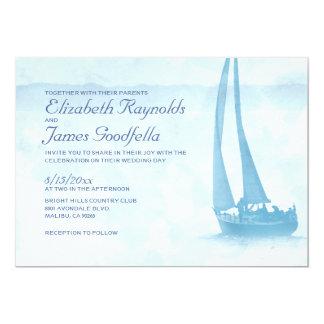 """Invitaciones rústicas del boda del barco invitación 5"""" x 7"""""""