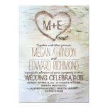 Invitaciones rústicas del boda del corazón del invitaciones personales