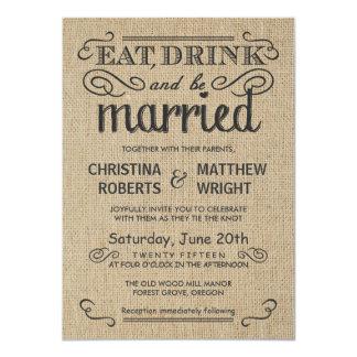 Invitaciones rústicas del boda del estilo de la invitación 11,4 x 15,8 cm